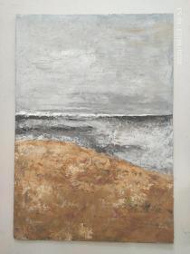油画写意画现代绘画抽象画家居装饰画挂画 木板油画收藏品风景绘画收藏作品