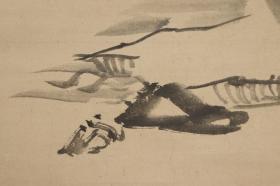 回流字画 回流书画 文人画 山水图 作者:趙陶斎(1713-1786)江户后期书法家,長崎出生。名養、字仲頤、号息心居士・枸杞園等。其父亲为清代商人,后移民日本。陶斋早年曾出家为僧,后还俗。周游日本,门人有十時梅、頼春水; 纸本 日本回流字画 日本回流书画