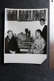 1962年西藏藏族喇嘛活佛老照片,25.5X20厘米