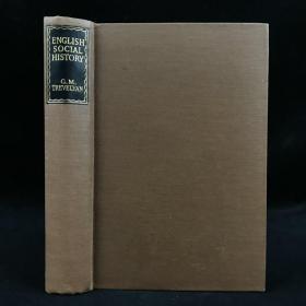 1948年,特里维廉《英国社会史:从乔叟到维多利亚女王六个世纪的调查》,近十幅地图,漆布精装,English Society History by George Macaulay Trevelyan