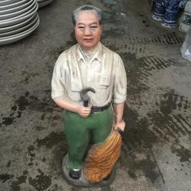 文革瓷红色收藏毛主席人物像雕塑2