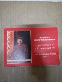 我们的伟大领袖毛主席(越 缅 泰三国文字)10张合售好品