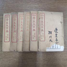 新体 学生大字典      六册