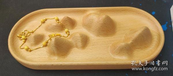 山水首饰盘 拾作产品木制文创商品 德国榉木 桌面摆件文创产品