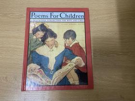 Poems for Children  《儿童诗集》,著名插画家 Jessie Willcox Smith 插图,精装超大开本12开