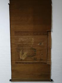 椿椿山 蝶图 手绘 回流字画 清代 日本回流