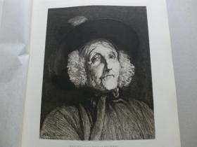 【百元包邮】 《威尔士的老妇人》(Wales Woman)1880年 腐蚀凹版画  纸张尺寸约36.4×26.7厘米(货号DGK0125)