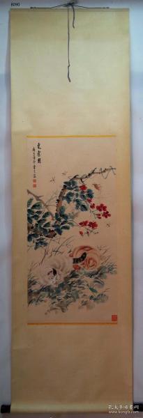 【艺林堂】 著名书画家  曹克家 █ 猫(纯手绘)█ 立轴  B090