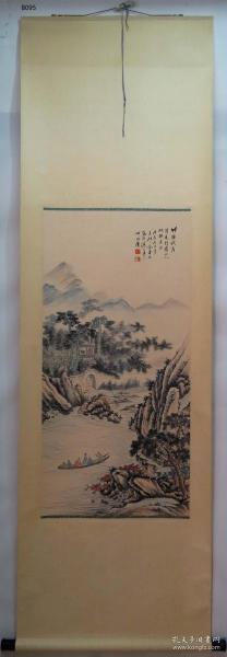 【艺林堂】 著名书画家 金梦石 █ 山水(纯手绘)█立轴 B095