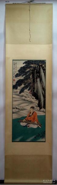 【艺林堂】 著名书画家 谢稚柳 █人物(纯手绘)█立轴 B116