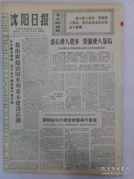 (沈阳日报)第924号