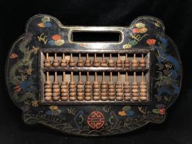 木胎漆器算盘4