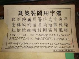 成国铨民国29年   土木建筑设计图纸   手稿9张