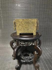 清代传世宣德年制款马槽形戟耳铜香炉,重937克,包浆熟美,清供珍品。