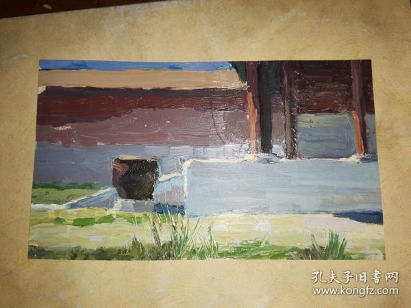 油画一幅         20.5×12厘米