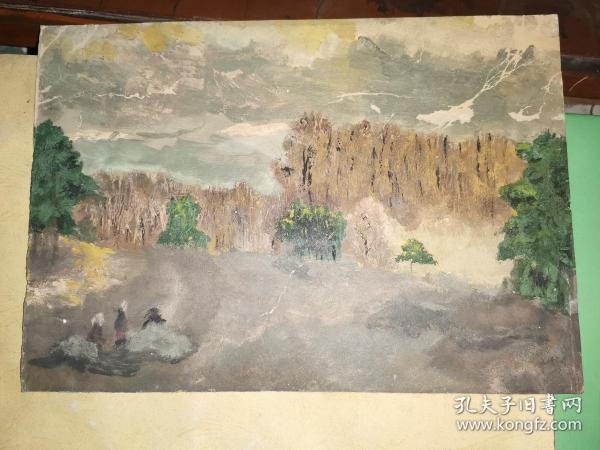 1978年10月25日--28日  绘    油画一幅  26.2×18.3厘米