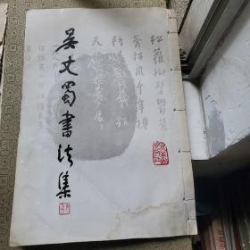吴丈蜀书法集  8开线装本 (封面有小块水印)