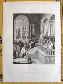 1873年 钢版画  手工雕刻 凹印版画35-201024