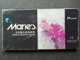 马利牌水粉画颜料 24色,颜料没有打开,未使用过,密封保存,盒子变形有损!