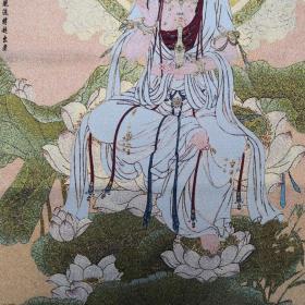 观世音菩萨唐卡刺绣织锦绣画