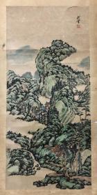 佚名山水,80年代旧裱,77×36