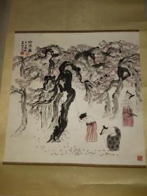 名家书画拾枣图4平尺、李福金:中国连环画界元老、著名实力派人物画家。
