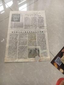 报纸1966年8月平定县学习白生云8开现存第5版,第6版