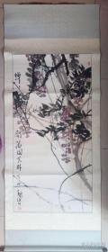 魏东,南京画家,国画(136cmx68cm)保真