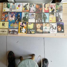 怀旧磁带28盘合售(几乎都有歌词纸)