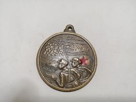 朝鲜政府赠祖国解放战争纪念章1953(铜质)