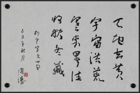 【周涛】当代著名诗人 、新疆文联副主席、作协副主席 书法