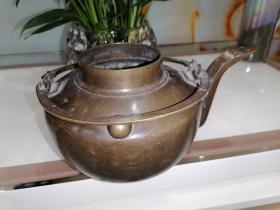【晋商遗珍】清代晋商铜茶壶,造型制作特漂亮。