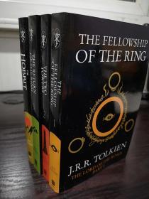 The Lord of the Rings,指环王英文版+霍比特人英文版,魔戒三部曲英文版+霍比特人英文版,霍比特人受潮后自然干燥,不影响阅读,无笔记无划线,共四本,包邮