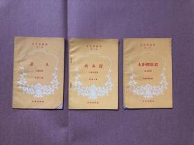 文艺作品选(第二辑)《亲人》 《大木匠》《太阳探险记》(3册合售)
