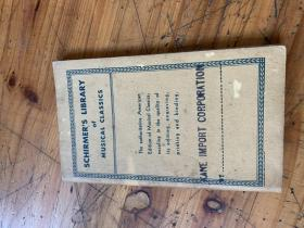 5273 SCHIRMER'S LIBRARY OF MUSICAL CLASSICS  席尔默音乐经典图书馆 英文原版