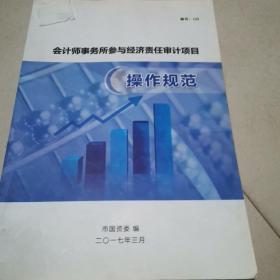 会计师事务所参与经济责任审计项目操作规范