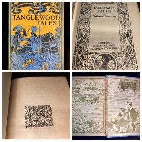 【特价】1890s古董童书Tanglewood Tales探戈林故事集 希腊神话儿童改写版