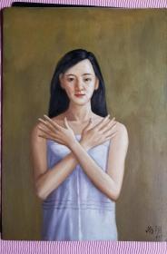 人物 油画 栩栩如生,品相非常好。 油画大师 尚谊作品 尺寸:42X30厘米