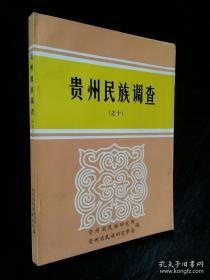 贵州民族调查(之十)