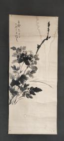 D1775:回流手绘花卉图软片(日本回流字画.日本回流书画.回流老画.回流老字画精品.真品字画)