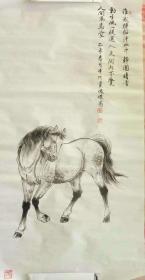 天津国画名家党俊杰先生工笔马