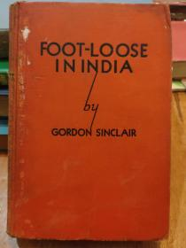 Foot-Loose in India 精装英文古董书