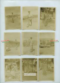 民国时期驻天津的美军士兵辅导中国警察或军人打靶射击训练,美军日常生活,海河风光等老照片一组12张