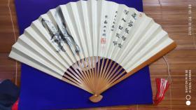 日本相当民国时期书法猴子图案折扇