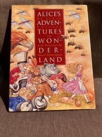 Alice's Adventures in Wonderland(刘易斯·卡罗尔《爱丽丝漫游仙境》,西班牙名家Angel Dominguez插图,精装超大开本,带护封,1996年美国初版)