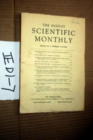 SCIENTIFIC MONTHLY 科学月刊1929年8月  多图片