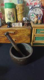 老铁质捣药罐老包浆老铁器民俗老物件。第22弹