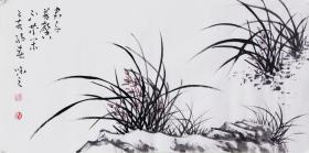 【自写自销】当代艺术家协会副主席王丞手绘 !君子芳心不等闲1964
