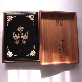 民国期制日本老漆器砚盒笔镇纸印章书画书法赠送省长精美木盒套盒N871