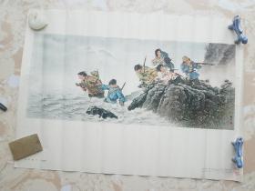 宣传画  八女投江(中国画)王盛烈